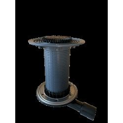 Wpust do tarasów wentylowanych DN40/50 poziomy z odprowadzeniem wilgoci z...